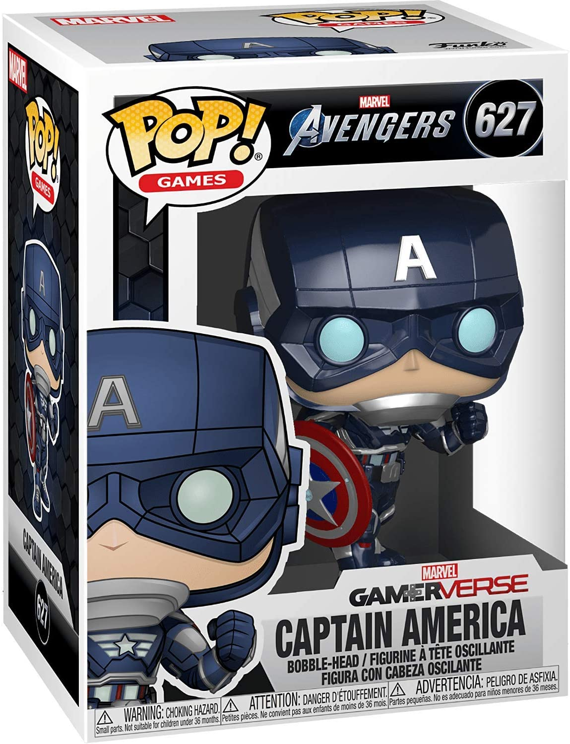 Фигурка Funko POP! Капитан Америка из игры Marvel Avengers (Captain America Game) изображение 3