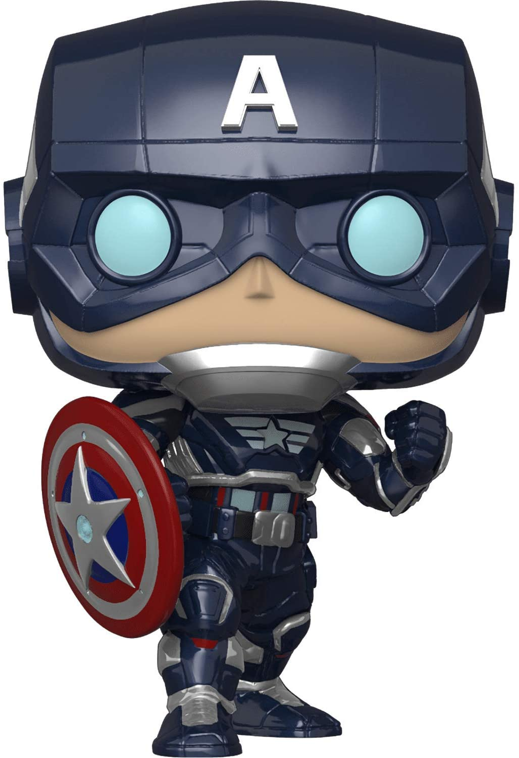 Фигурка Funko POP! Капитан Америка из игры Marvel Avengers (Captain America Game) изображение 2