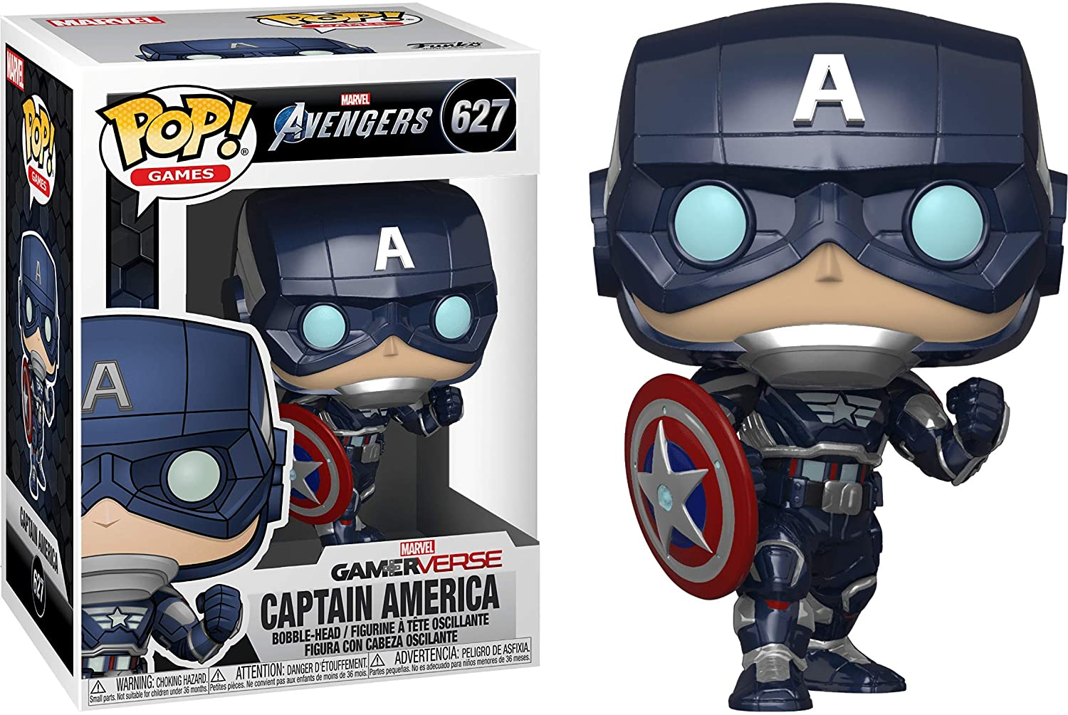 Фигурка Funko POP! Капитан Америка из игры Marvel Avengers (Captain America Game)
