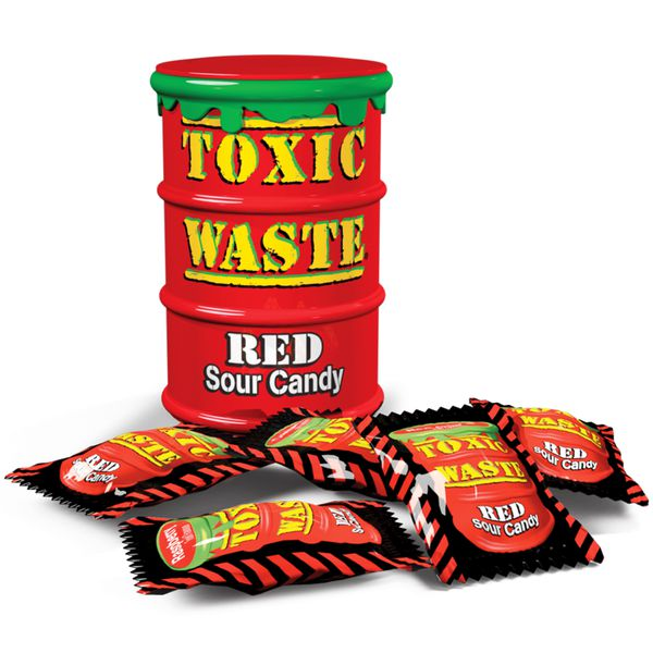 Конфеты Toxic Waste Red Sour Candy