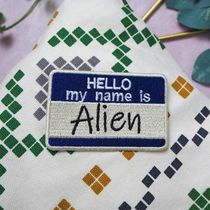 Нашивка Hello my name is alien