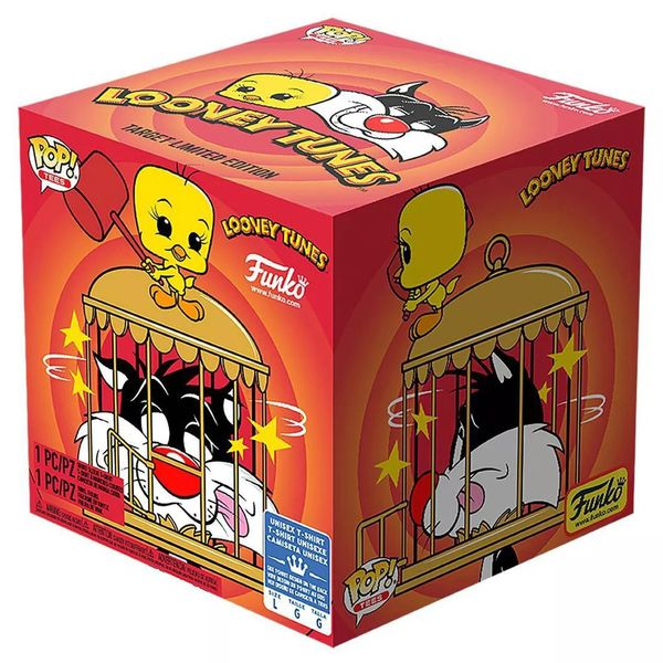 Набор фигурки Funko POP! и футболка Сильвестр и Твити (Sylvester & Tweety) Exclusive изображение 5