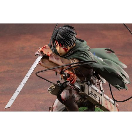 Фигурка  Атака на Титанов - Леви (Attack On Titan - Levi Fortitude Ver., ARTFX J) УЦЕНКА изображение 3