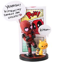 Фигурка Дэдпул с котиком (Deadpool Mini Egg Attack Series)