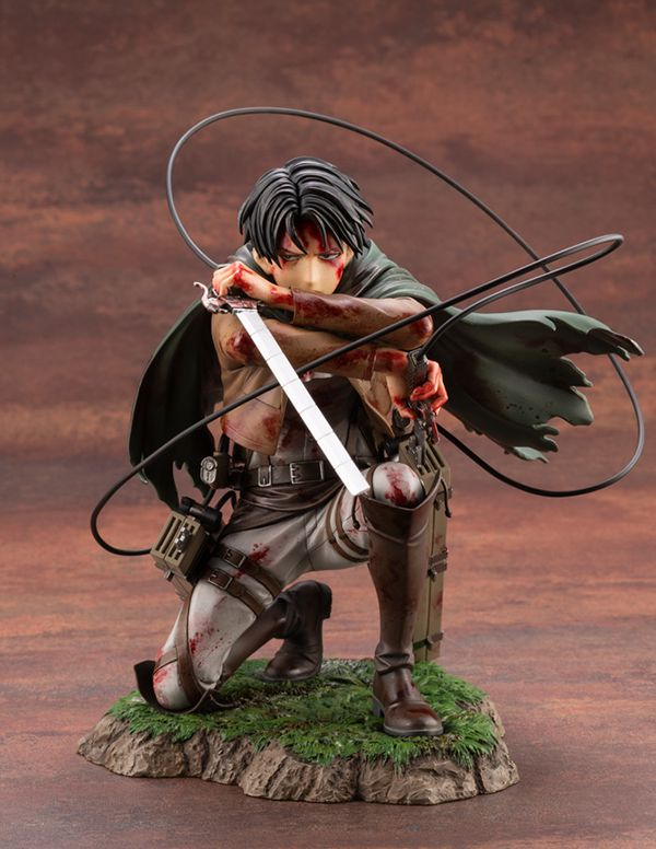 Фигурка  Атака на Титанов - Леви (Attack On Titan - Levi Fortitude Ver., ARTFX J) УЦЕНКА изображение 2