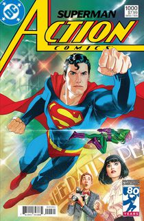 Action Comics #1000 1980's by Joshua Middleton