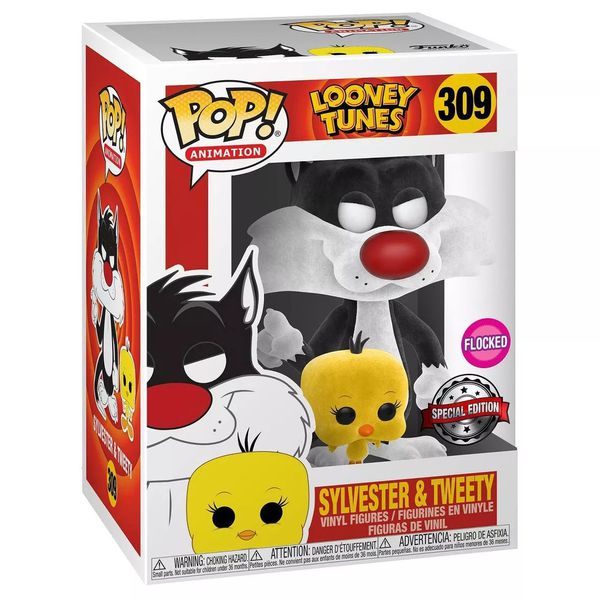 Набор фигурки Funko POP! и футболка Сильвестр и Твити (Sylvester & Tweety) Exclusive изображение 4