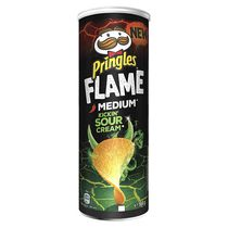 Чипсы Pringles Medium Kickin Sour Cream (острые, сметана и лук)